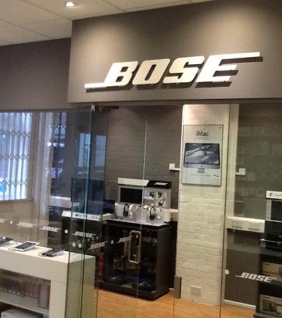 Property refurbishment Bristol, Bose shop by Bristol shopfitter Simon Davies