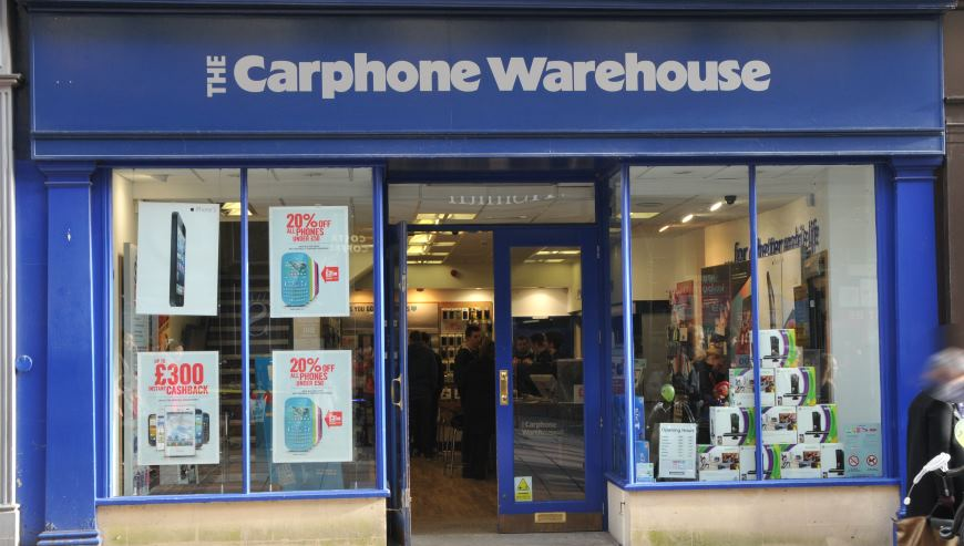 Carphone warehouse, shop fitter Bath